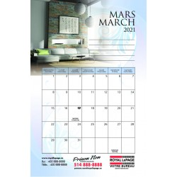 Calendriers tablette 5.5''x8.5'', RLCTB