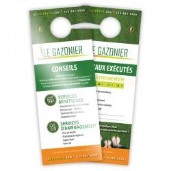 Cartons Accroches-Portes, 4/4 + Vernis AQ