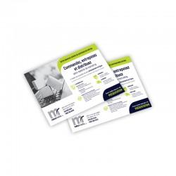 Cartons Publicitaires 4.25x5.5, 4/0 sur 14 pts C2C