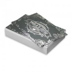 Cartes d'affaires 14 points, Imprimées 2 côtés, Laminées Mat + Foil sélectif 2 côtés argent ou or