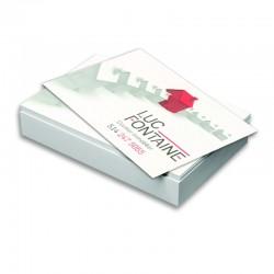 Cartes d'affaires 16 points, imprimées 4/0 + Vernis AQ