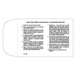 Boite de 100 Enveloppes ''Que faire après avoir subi de la chirurgie dentaire'', PLC - 3BLF