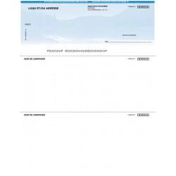 Chèques personnalisés pour imprimante laser - FOND MONTAGNEUX