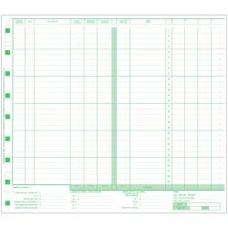 Paquet de 500 Formulaires Journal des honoraires, WJ-M5-2 B