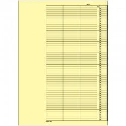 1 paquet de 52 feuilles, agenda de rendez-vous (Jeudi), P310-10HJ