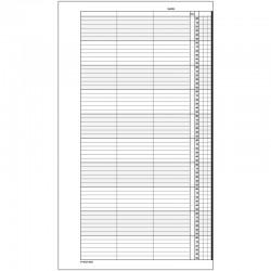 1 paquet de 52 feuilles, agenda de rendez-vous (Lundi), P310-10HL
