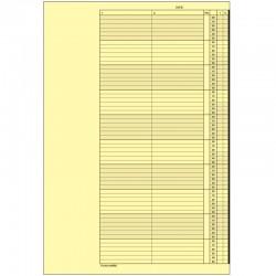 1 paquet de 52 feuilles, agenda de rendez-vous (Jeudi), P210-10HJ