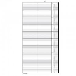 1 paquet de 52 feuilles, agenda de rendez-vous (Lundi), P210-10HL
