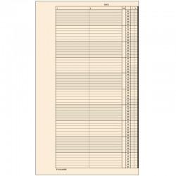 1 paquet de 52 feuilles, agenda de rendez-vous (Mardi), P210-10HMA