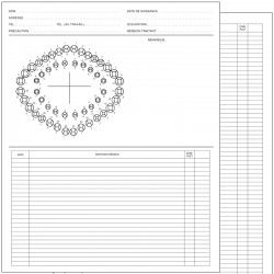 """Boîte de 250 dossiers dentaires 8.5""""  X  10.5"""", PCL0001F"""