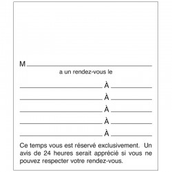 Cellos de 250 Feuillets Rendez-vous 24H en 2 copies, FRV24H