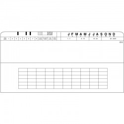 """Boîte de 100 pochettes 12"""" X 6"""", PCL612"""